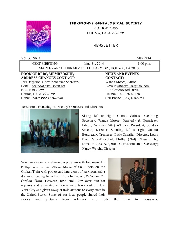 Newsletter Vol. 33 No. 3